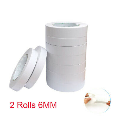 2 Rolls DOUBLE SIDED CLEAR STICKY TAPE DIY STRONG CRAFT ADHESIVE 6MM