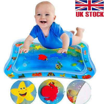 Infants Baby Inflatable Water Mat Water Play Mats Toddlers Fun Tummy Time Play