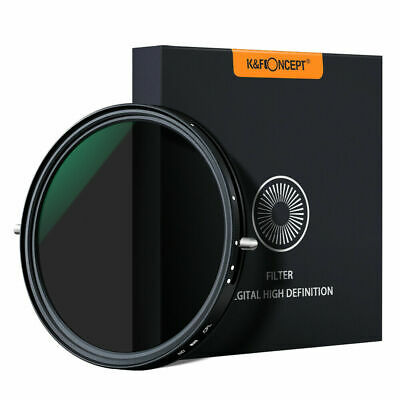K&F Concept 72mm Variable Fader ND2-ND32+CPL Polarizer Filter 2 in 1 No X Spot