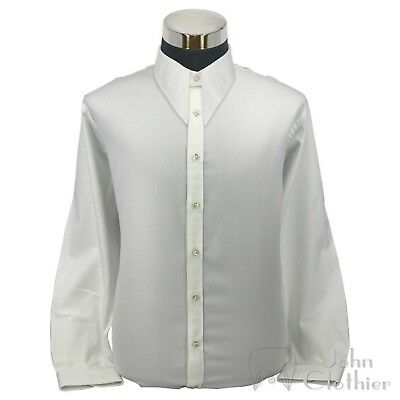 Dagger Spearpoint Vintage collar Mens shirt steps Cotton 1930 Classic WWII Gents