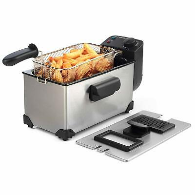 Progress 3L 2200W Large Silver Deep Fat Fryer with Removeable Basket Easy Clean