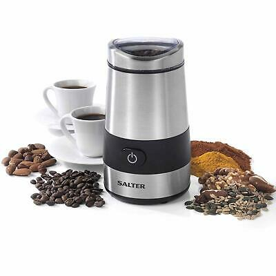 Salter Electric Stainless Steel Twin Blade Coffee Bean Nut Grinder Grinding Mill