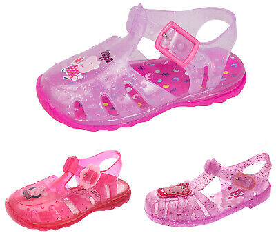Peppa Pig Girls Summer Jelly Sandals Kids Character Pool Beach Shoes Jellies
