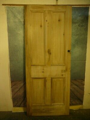 T24a (32 1/2 x 80 1/2) Extra tall antique reclaimed old Solid period pine door