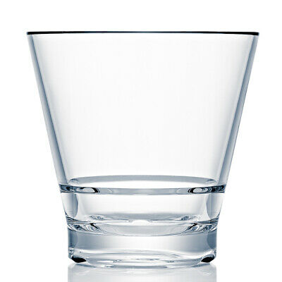 Strahl CapellaStack Polycarbonate Double Rocks Tumblers 12oz / 355ml - Set of 12
