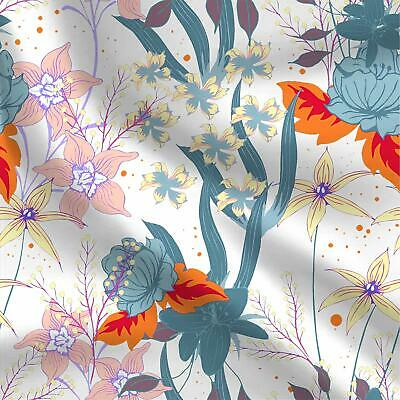 Table Top Cotton Fabrics Cloth With Floral Printed By 1 Yard 44 Inches Wide