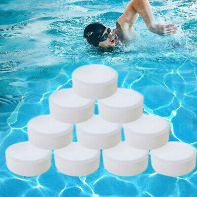 50PC Multifunctional White Chlorine Tablets for Hot Tub Swimming Pool Spa Clean