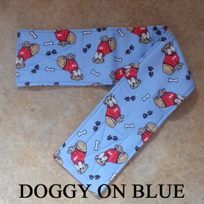 "FLANNEL Belly Bands for Male Boy Dog Waist 17-20"" L MULTIPLE FABRICS for Charity"