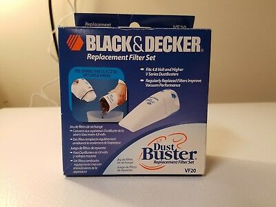 Genuine BLACK & DECKER Dustbuster Vac Filter VF20.