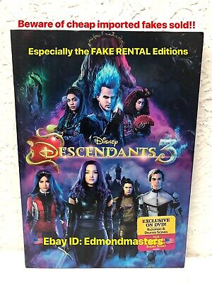 Descendants 3 DVD Authentic with Disney Rewards (BEWARE OF CHEAP FAKES SOLD)