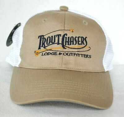 YELLOWSTONE MONTANA* BROWN Trout Fly Fishing Trucker mesh
