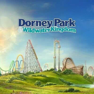 Dorney Park Paper Ticket - 1 Day General Admission ticket Free Shipping 2019