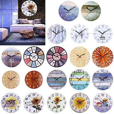 Modern Retro Wall Clock Hanging Sticker Decals Home Decor Art European Design