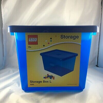 Lego Plastic Stackable Storage Box L Large 4094 W/ Sorting Tray Blue