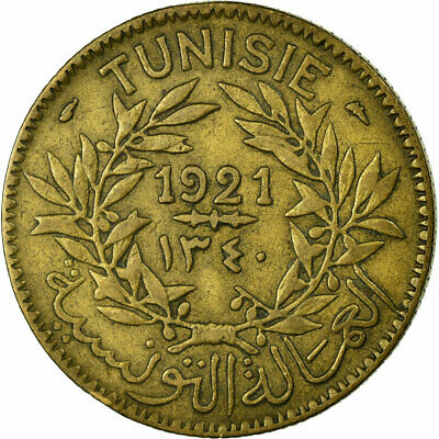 [#457636] Coin, Tunisia, Anonymous, 2 Francs, 1921