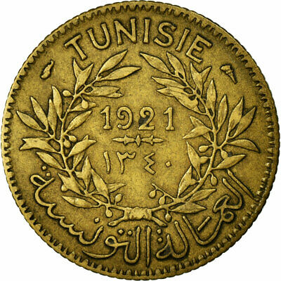 [#680705] Coin, Tunisia, Anonymous, Franc, 1921/AH1340, Paris, EF(40-45)