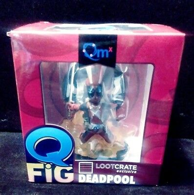 Collectible Marvel Q Fig Lootcrate Exclusive Dead Pool.new In Its Original Box..