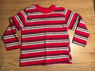 Boys Garanimals Multicolored Striped Long Sleeve Shirt Size 24 Months.  (#245)
