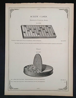 1888 Vintage Simmons Hardware Catalog Page ~ American Screw & Bolt Cases