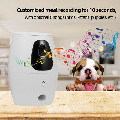 Automatic Pet Feeder Remote Control WiFi Intelligent Cat Dog Monitor L7Z5