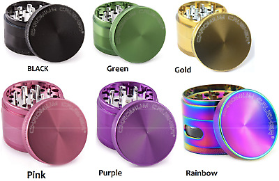Chromium Crusher 2 Inch 4 Piece Tobacco Spice Herb Grinder 6 Colors, aluminum