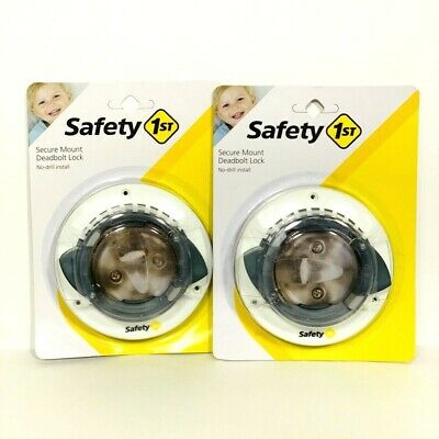 Safety 1st Secure Deadbolt Lock No Drill Install HS162 New Sealed Lot Of 2