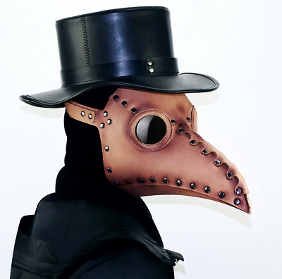 Novel Steampunk Style Latex Mask Long Nose Beak Bird Crow Cosplay Halloween