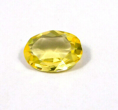9 Cts. Natural Faceted Oval Shape Yellow Hydro Cut Gemstone AAK1497