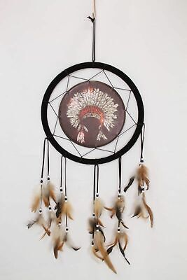 Tribal Indian Dreamcatcher Wall Hanging Dream Catcher Feathered 33cm