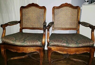 Vintage caned chairs