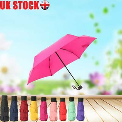 Mini Pocket Compact Umbrella Sun Anti-UV 5 Folding Rain Windproof Capsule Case