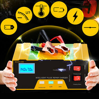 UK 12V 24V Automatic Intelligent Pulse Smart 10AMP Car Battery Charger Van