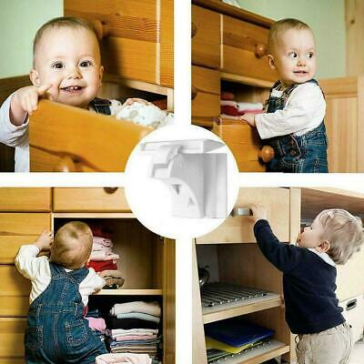 Magnetic Cabinet Locks Baby Safety Invisible Child Proof Cupboard Drawer E5G3
