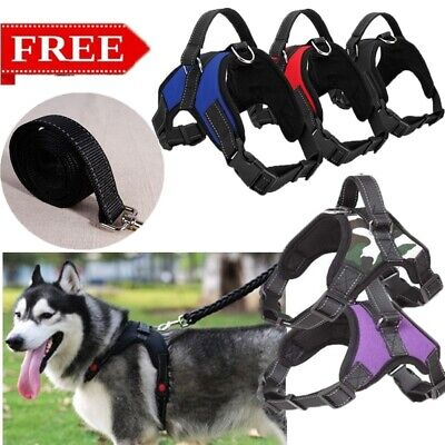 Adjustable Vest Soft Chest Strap Large Dog Anti-riot Leash Harness Walking Dogs