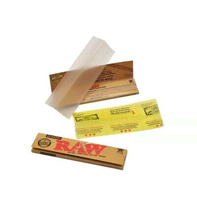 5 Bookles RAW Classic King Size SLIM unrefined rolling 160 papers Cigarette