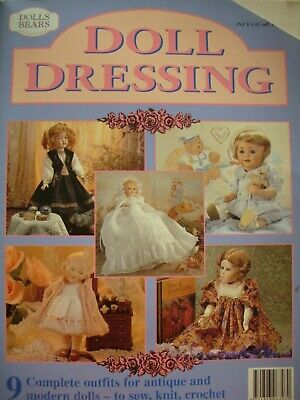 DOLL DRESSING - Sew Knit Crochet Patterns 9 outfits for antique & modern dolls