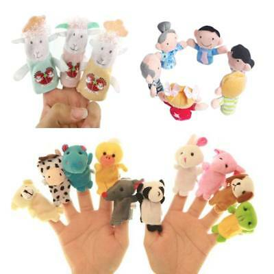 3/6/10pcs Baby Kids Finger Animal Educational Story Toy Puppets Cloth Plush Doll