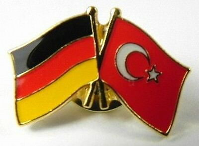 Germany Turkey Friendship Flags Pin, Souvenir Germany