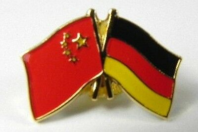 Germany China Friendship Flags Pin, Souvenir Germany