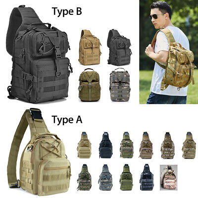 Medium/Large Military Tactical Sling Bag Assault Backpack Army Molle Waterproof