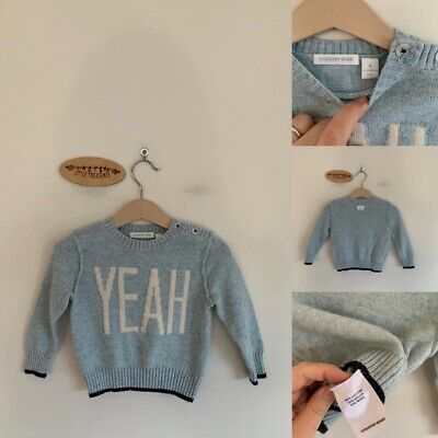 Sz 0 Country Road Light Blue Yeah Knit Jumper