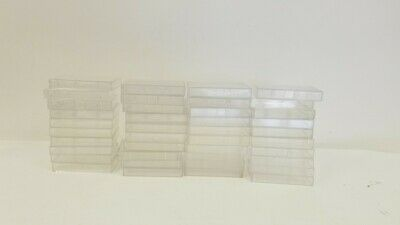 Lot of 50 Empty Audio Cassette Tape Cases Boxes Clear Pre-owned