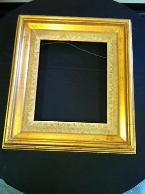 "Antique 19"" x 17"" Gold Leaf Ornate Picture Frame Shabby French Style Vtg"