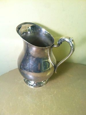 FB Rogers Silver Co1883 Vintage Silverplate Water Pitcher #3707 With Ice Lip