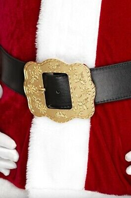 Adults Mens Deluxe Gold Santa Claus Belt Father Christmas Fancy Dress Accessory