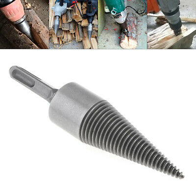 35MM Steel Speedy Firewood Drill Bit Wood Splitter Screw Splitting Cone Driver