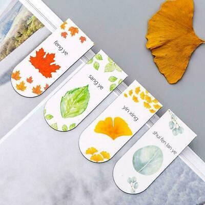 4Models Ginkgo Maple Leaves Plant Magnetic Bookmark Office School Supply 6* R8F5