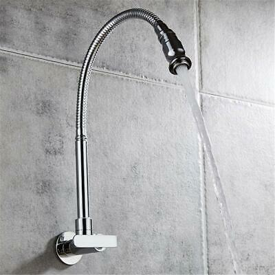 Wall Mount Kitchen Sink Faucet with Pull Down Single Handle Home Lavatory Tap