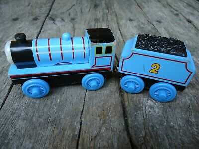 Thomas Wooden Train Edward The Blue Engine 99002 No Tender 1998