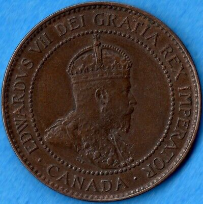 Canada 1902 1 Cent One Large Cent Coin - EF